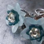 Light blue and silver flowe..